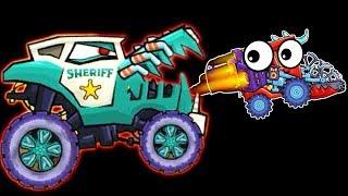БИТВА С БОССОМ мультик про машинки из серии игры Машина Ест Машину 3 погоня полицейских #ФГТВ