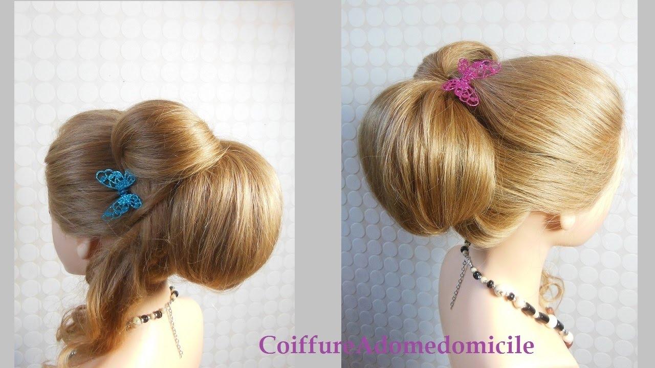 Coiffure bouclée chignon | Curled hairstyle Updo | Peinado ...