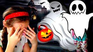 Вечеринка на Хэллоуин в доме страха Super Girl спасает подруг Одни дома игра для детей Kids Children