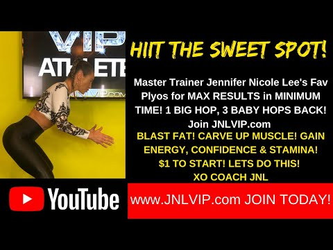 HIIT THE SWEET SPOT! Master Trainer Jennifer Nicole Lee's PLYOS for Max Gains! BIG JUMP & 3 HOPS