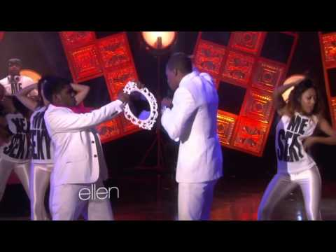 Maddy Owens with Nick Cannon on The Ellen Show