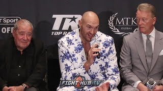 "TYSON FURY DISMISSES ANDY RUIZ AS A TOP HEAVYWEIGHT ""ME & DEONTAY WILDER BEAT HIM!"""