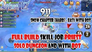 Laplace M. BUILD SKILL Job PRIEST (SOLO DUNGEON & PARTY WITH BOT)