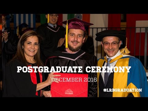 Postgraduate Graduation Ceremony November  2016 - Les Roches Global Hospitality Education