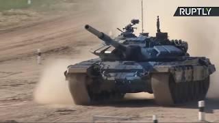 Четвёртый день АрМИ-2018: Россия принимает участие в соревнованиях по танковому биатлону в Алабине