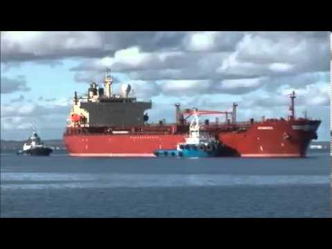 Ship entering port at Esperance Western Australia