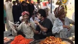 watch azhar rangeela in sakhi sarwar in program road rangeela on rohi tv
