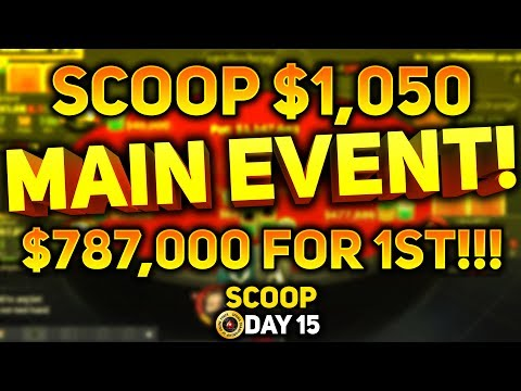 $1,050 SCOOP MAIN EVENT DAY 1!!!!  PokerStaples Stream Highlights May 21st 2017