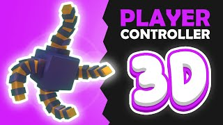 Thumbnail for '3D Player Controller in Unity. Converting my 2D Celeste Controller!'