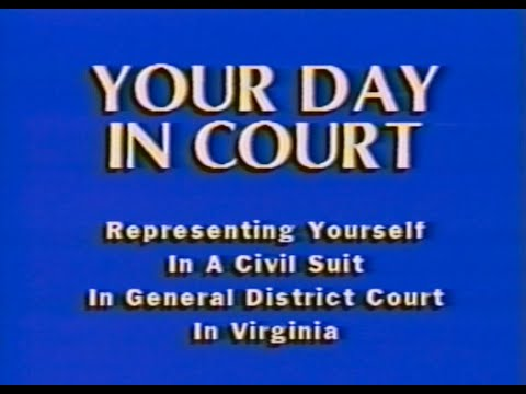 Your Day In Court: Representing Yourself in a Civil Suit in Virginia