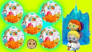 6 Disney Tsum Tsum Mystery Stack Pack Surprise Toy Blind Bags at Queen Elsa's Castle