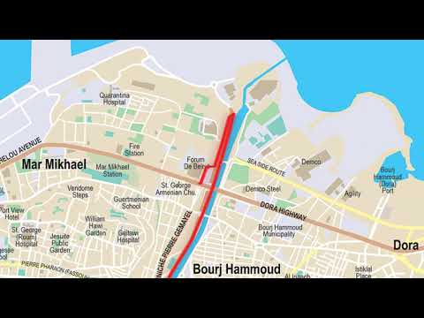 Direction Map English | BLOM BANK BEIRUT MARATHON 2017