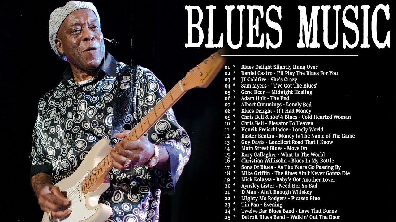 TOP Blues Music - Playlist Best Slow Blues /Rock Songs All Time - Relaxing Jazz Blues Music