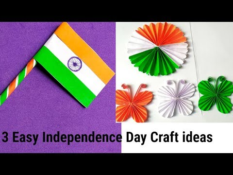 DIY 3 Easy Independence Day Craft/ Republic day Craft/ Easy Paper craft for kids.