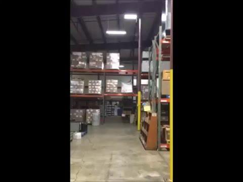 Surplus Property warehouse installs energy-efficient lighting