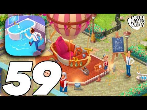 HOMESCAPES Story Walkthrough Gameplay Part 59 - Party Room (iOS Android)