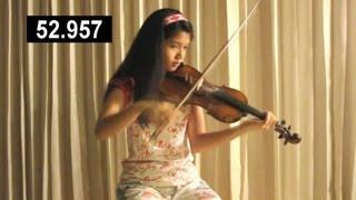 "Clarissa Tamara (13 years old) plays very Fast ""Flight of the Bumblebee"" 255 bpm"