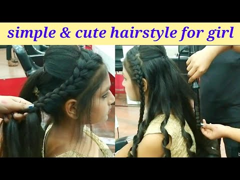 Simple and cute hairstyle for girls // party & wedding latest hairstyle for 2019 thumbnail