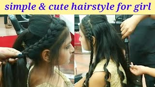 Baixar Simple and cute hairstyle for girls // party & wedding latest hairstyle for 2019