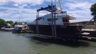 Alalunga 18mt yacht, Spostamento e Varo/Shifting and Launch