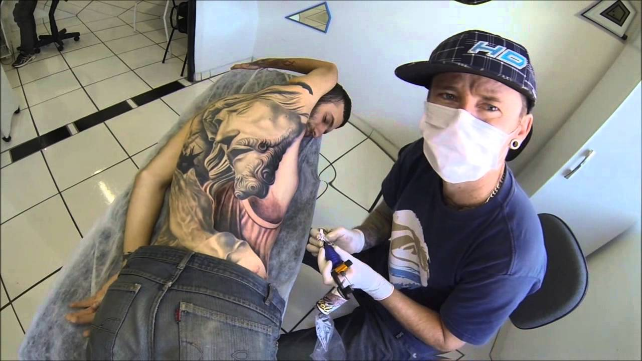 Blood ink tattoo costas gutto youtube for Bloody ink tattoo price