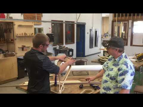 Making Wood Fishing Nets At Darby High Woodworking Program