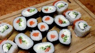 Как КРУТИТЬ И ГОТОВИТЬ Роллы ДОМА ( суши )