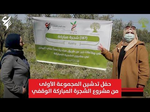 مبادرة معاً نبني اليمن | حفل تدشين المجموعة الأولى من مشروع الشجرة المباركة الوقفي | وقف أويس القرني