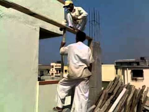 Indian Crazy Building Construction worker