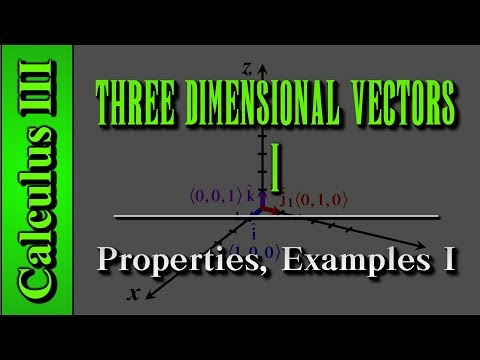 Calculus III: Three Dimensional Vectors (Level 1 of 3) | Properties, Examples I