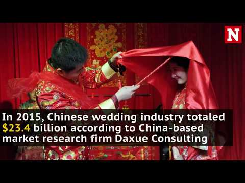 Chinese wedding photo industry is booming