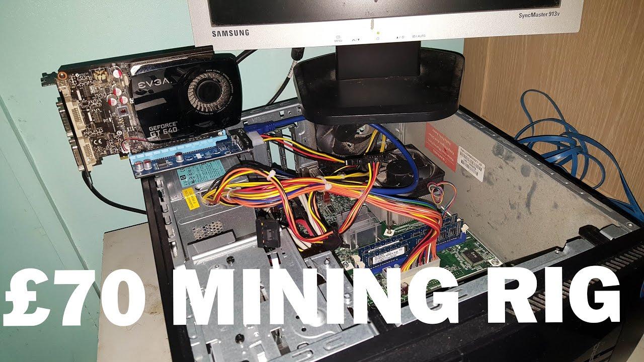 Cheap £70 Monero Mining Rig GT640 graphics card 68 Hash/S