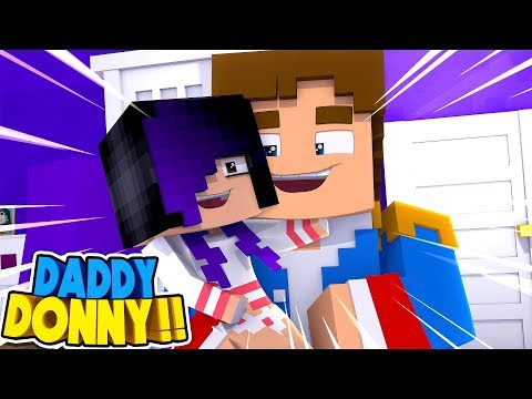 Minecraft DRAMA: LITTLE DONNY IS BABY DONNA'S REAL DAD!! Donny & Leah Adventures.