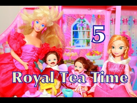 AllToyCollector Frozen Play-Doh Barbie Summer Fun DAY 5 Countdown Anna Kids Royal TEA PARTY TIME