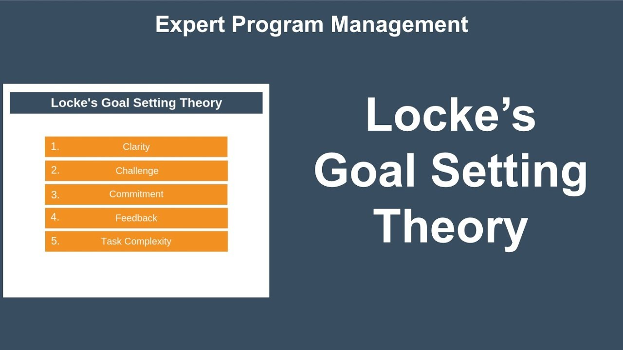 goal setting theory psychology