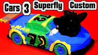 Pixar Cars 3 Custom Superfly Demolition Derby Crazy 8 Race Car with...