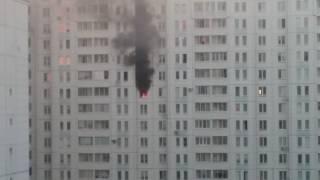 Пожар в Подольске в многоэтажке