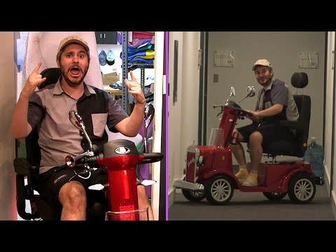 Ethan Destroys His Mobility Scooter The First Day