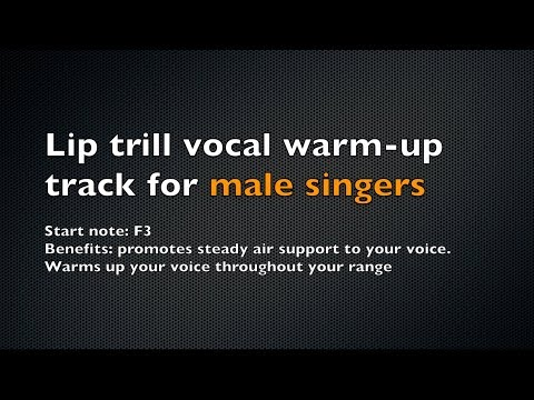 Lip Trill Warm-Up Track for Male Singers