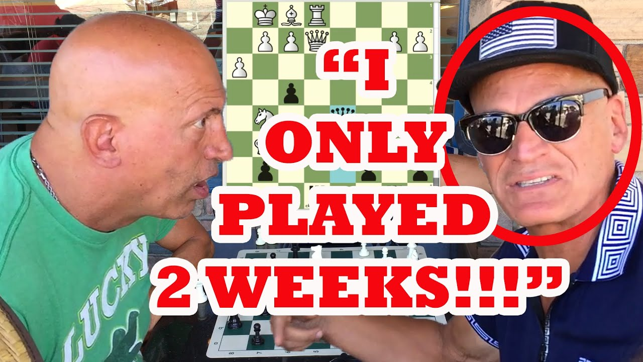 Chess Hustler Tells Famous Trash Talker He's Only Played 2 Weeks! Boston Mike vs Electric Eric