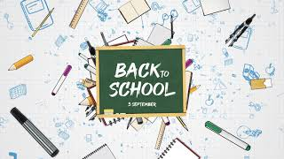 Back to School After Effects Template