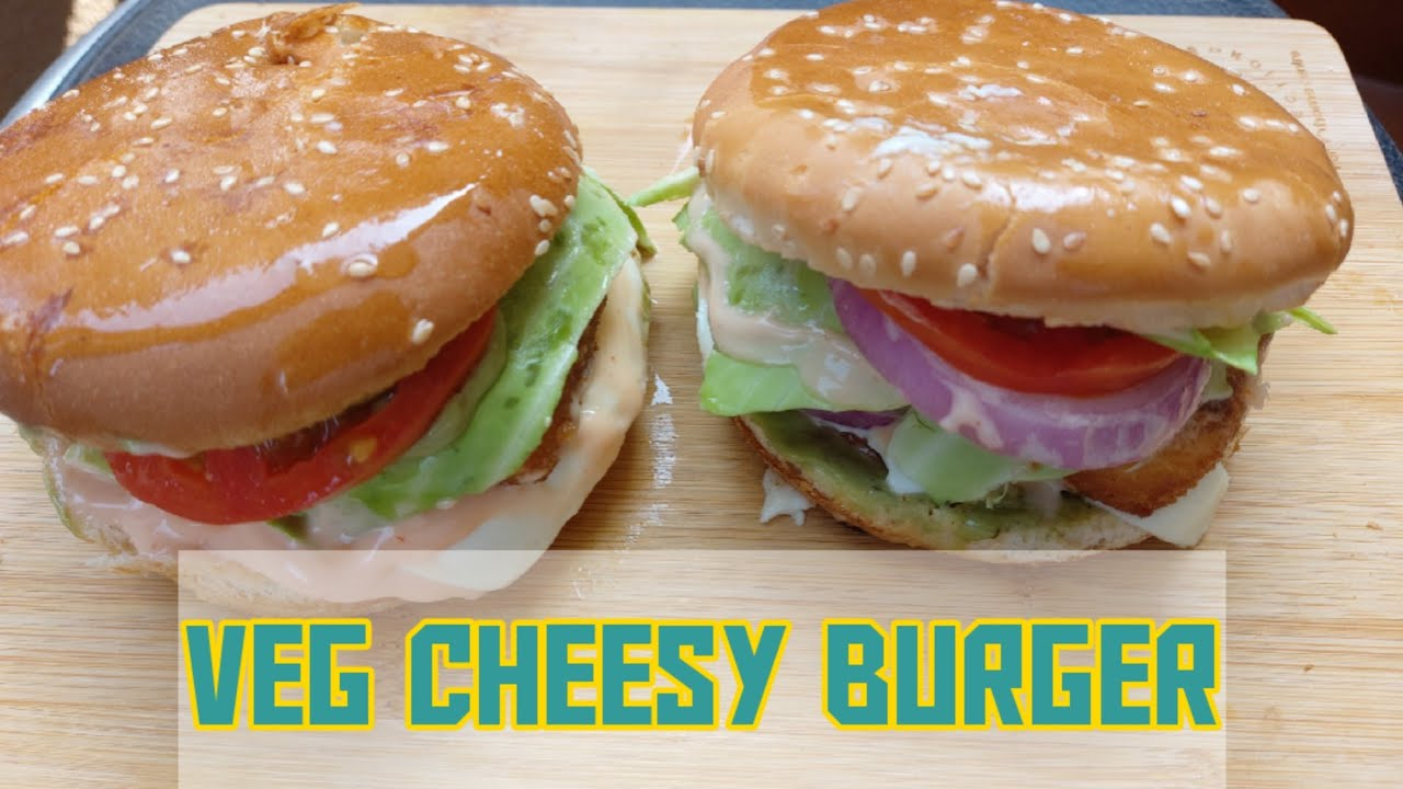Easy Cheesy Creamy Veg Burger Recipe Burger Filled With Goodness Of Home Yummy Burger Recipe Youtube