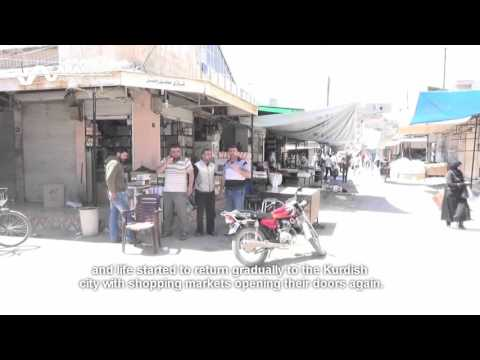 عودة الحياة إلى قامشلو Life returns to Kurdish city after ceasefire