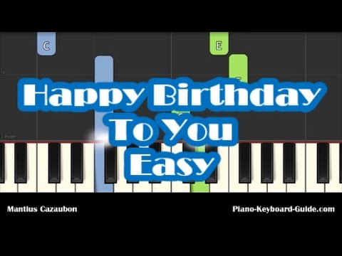 How To Play Happy Birthday To You Easy Piano Tutorial Notes Youtube