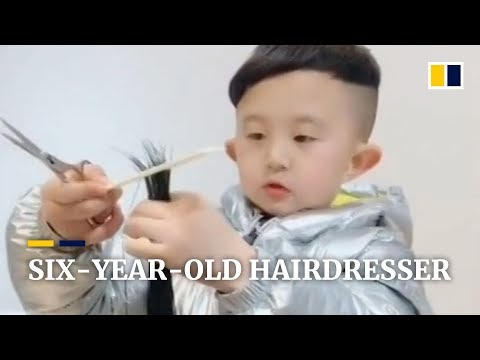 Meet the six-year-old hairdresser in southern China