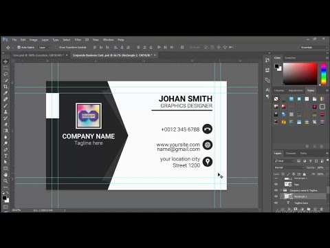 How to Black White Business Card Design in Photoshop cc