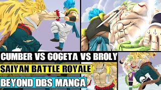 Beyond Dragon Ball Super: Cumber Vs Gogeta Vs Broly! Merged Zamasus Plan Completed! Frieza Watches