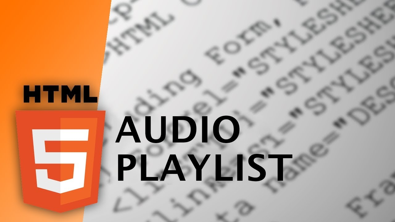 Html audio playlist