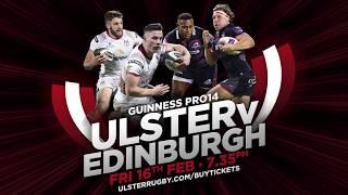 Ulster v Edinburgh promo