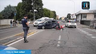 Vigevano: scontro auto-moto, tre feriti